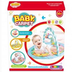 Gimnasio alfombra para bebé, arco con 3 sonajeros