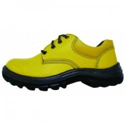 Zapato de Cuero Amarillo Punta Acero