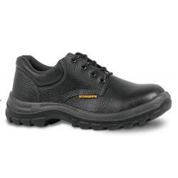 Zapato de Cuero Negro Punta Acero
