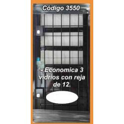 Puerta de Chapa Modelo 3550 con Reja de 12