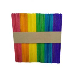 Palitos Helado Col. Colores 50U