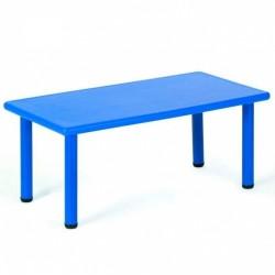 Mesa de plástico rectangular azul 120